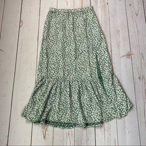 NWT - A&F - Women's Green Floral Skirt